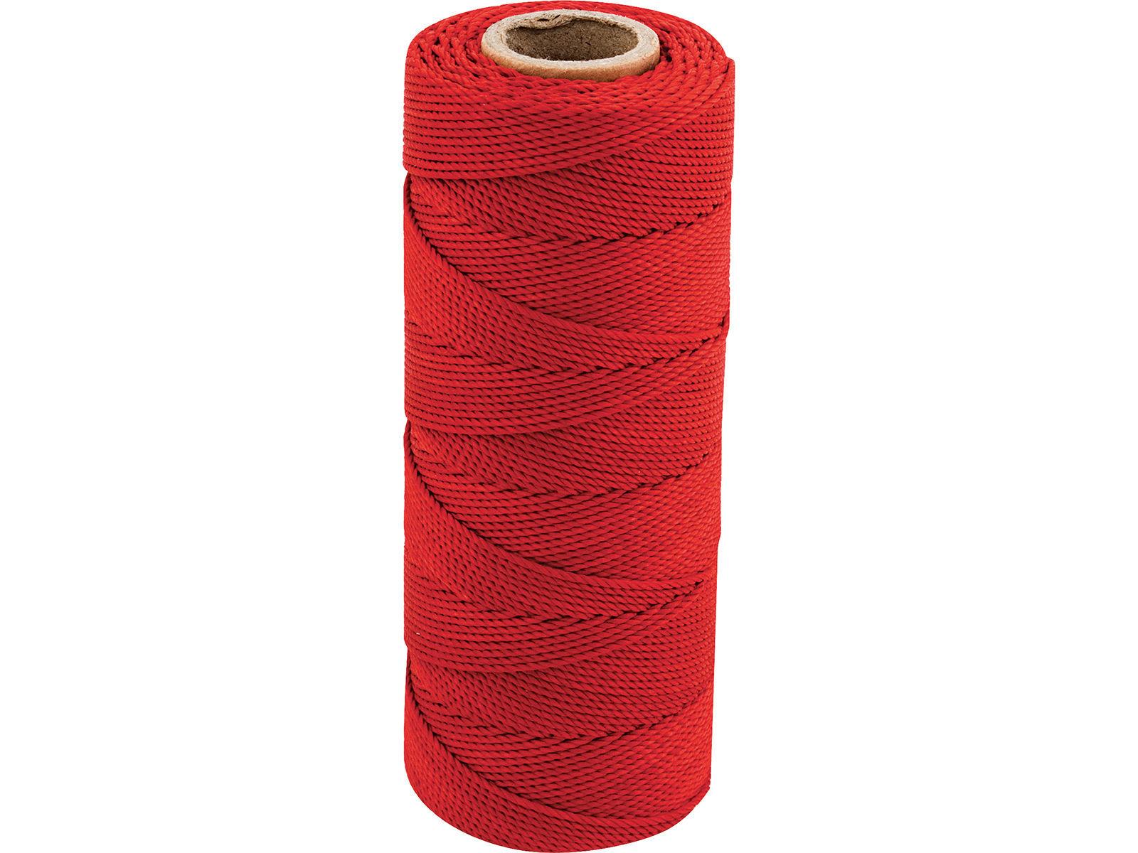 Bilde av Murerloddsnor polyester rød 1.5mm 120m