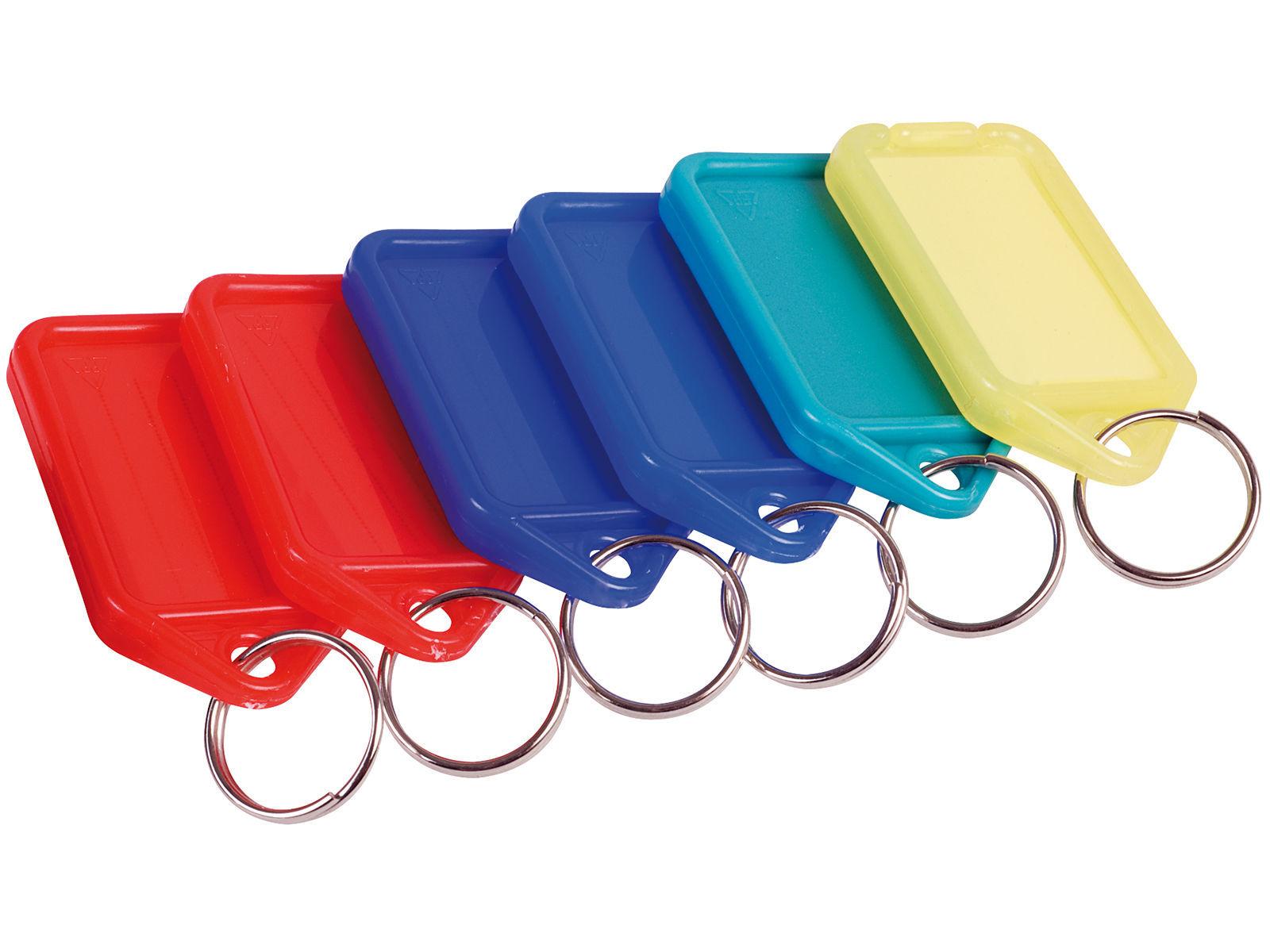 Bilde av Nøkkelmerke plast m/nøkkelring ass farger 45x30mm