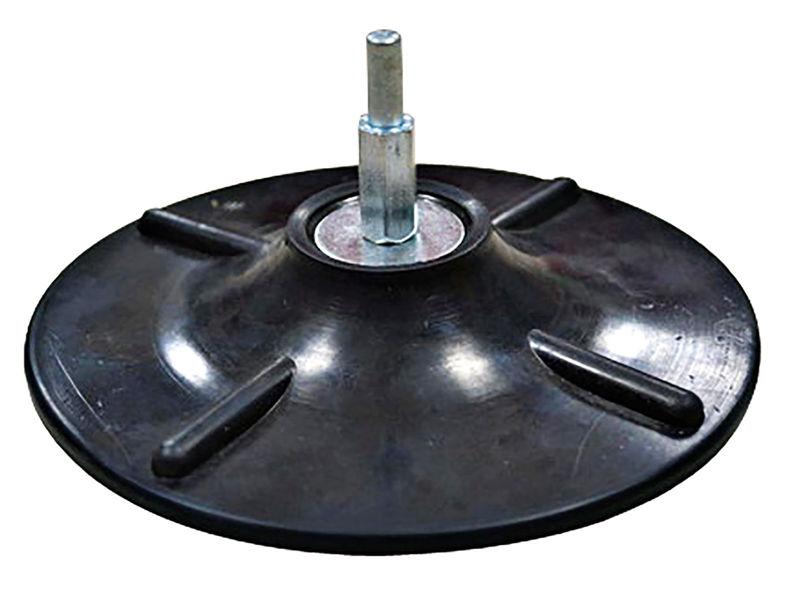 Bilde av Tactix gummitallerken 125 mm velcro