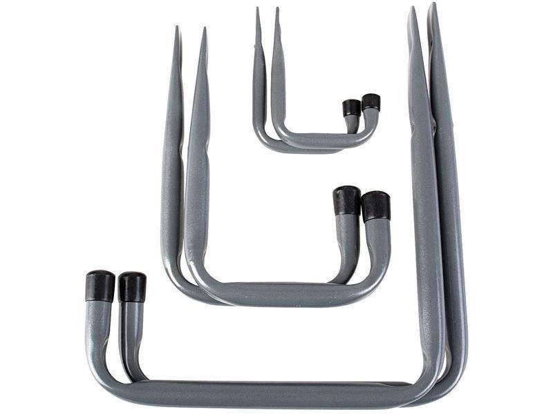 Bilde av Opphengskroker sett stål/grå A6