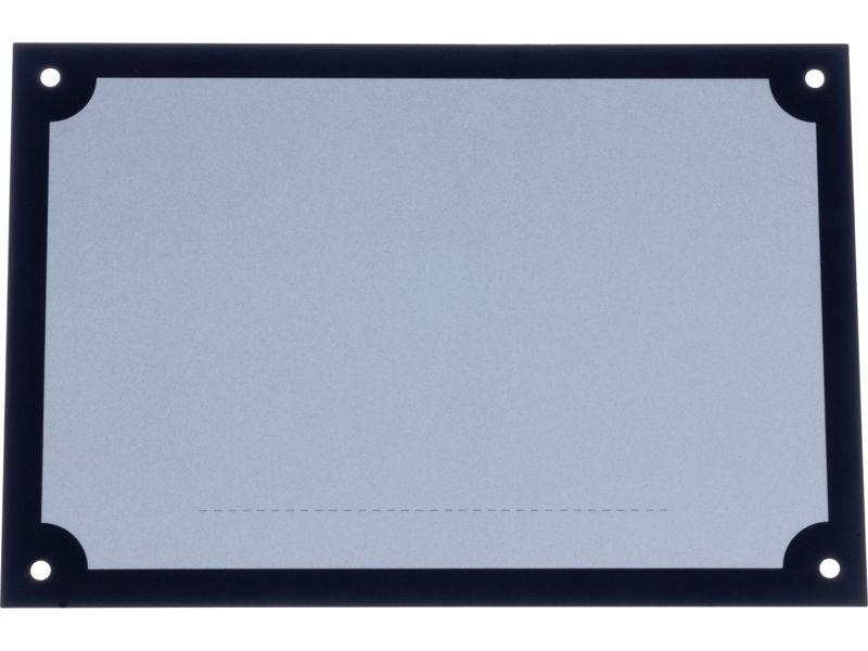 Bilde av Husnummerplate for 3 nr svart/hvit refleks 220x150