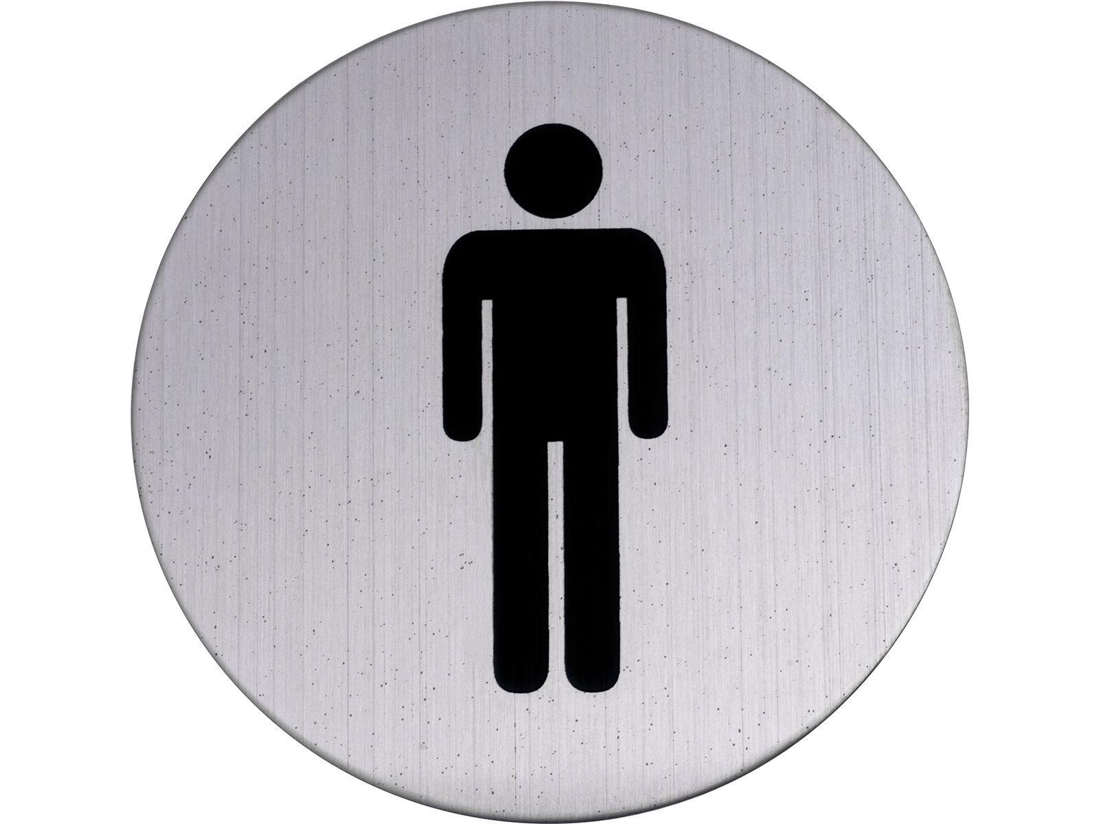 Bilde av WC-skilt herrer rustfritt svart 75 mm