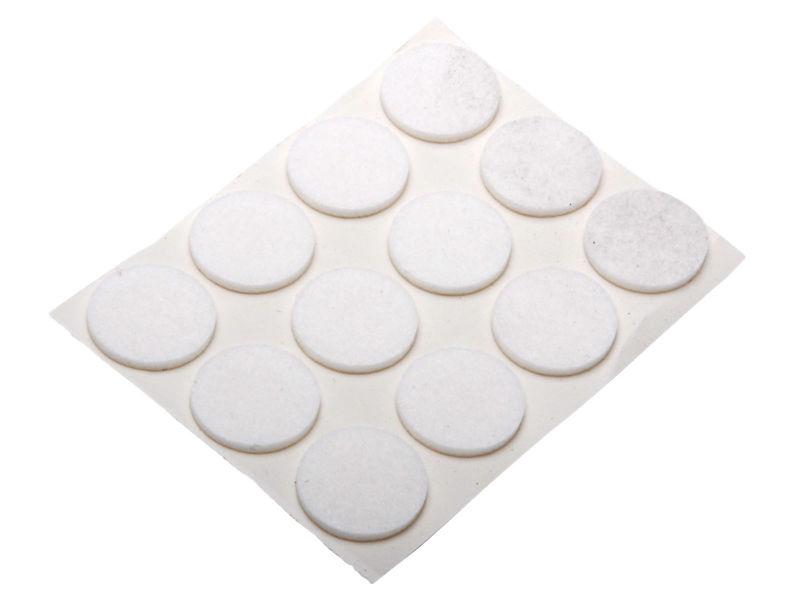 Bilde av Møbelfilt selvklebende hvit Ø 17 A20
