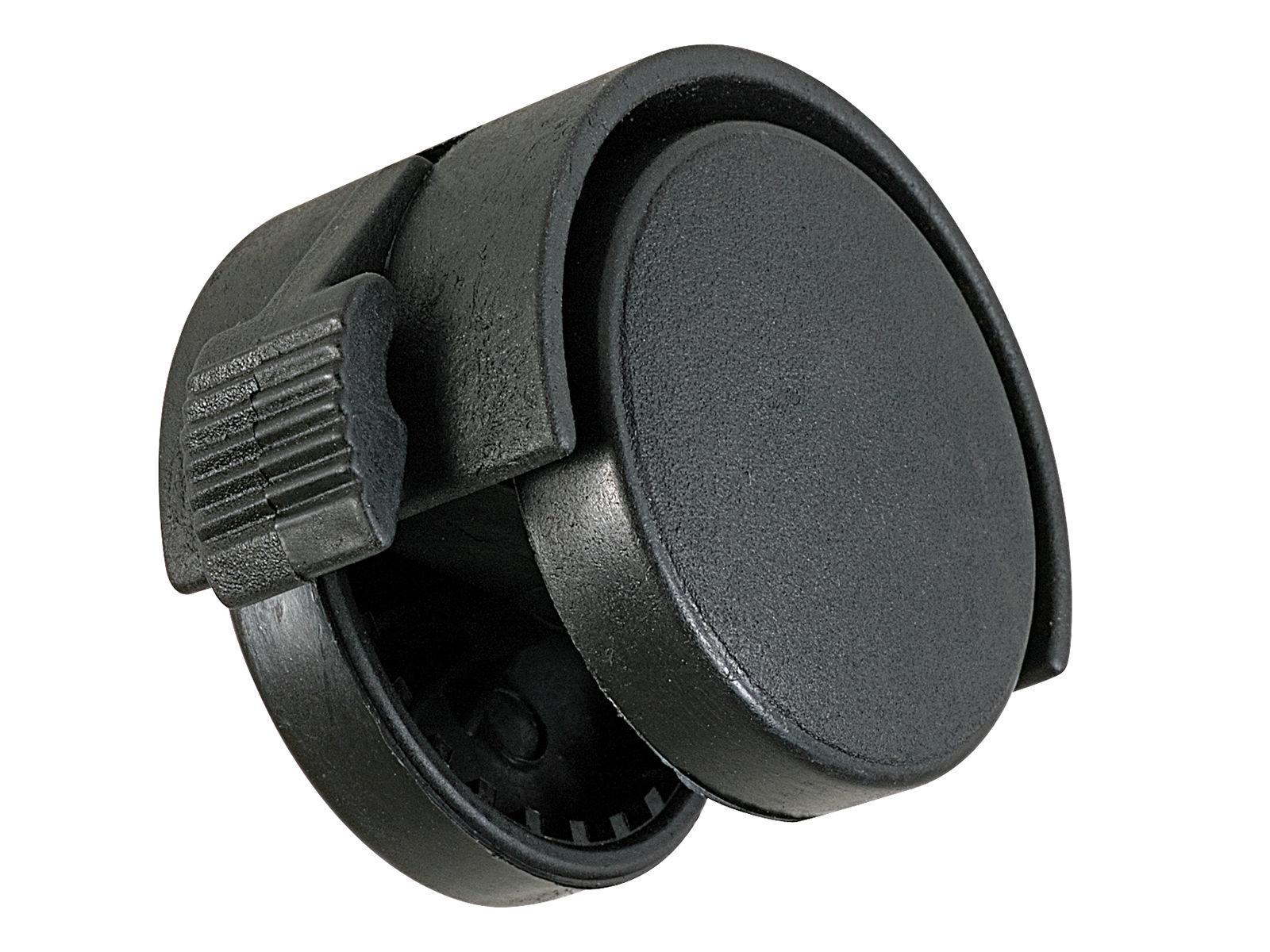 Bilde av Møbeltrinse m/brems plast/svart Ø40mm A2