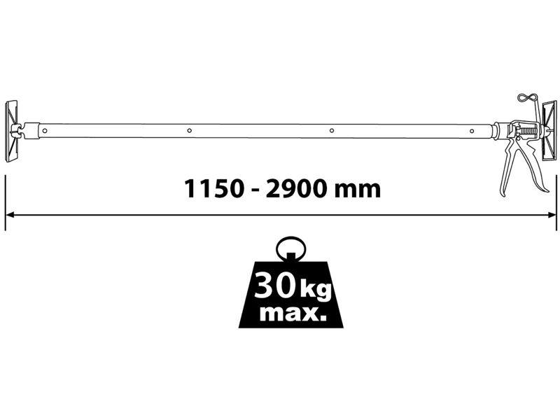 Bilde av Teleskopstøtte 115-290cm 30kg