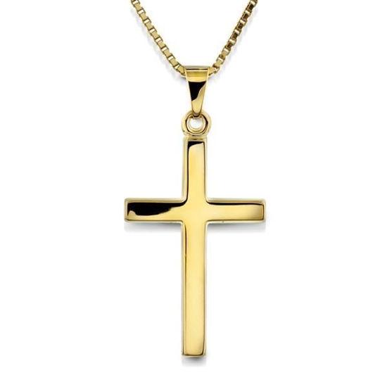 Kors i gult gull 14kt/585-17138
