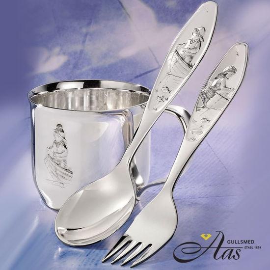 Sølv barnebestikk. Ro Ro Til Fiskeskjær-9208