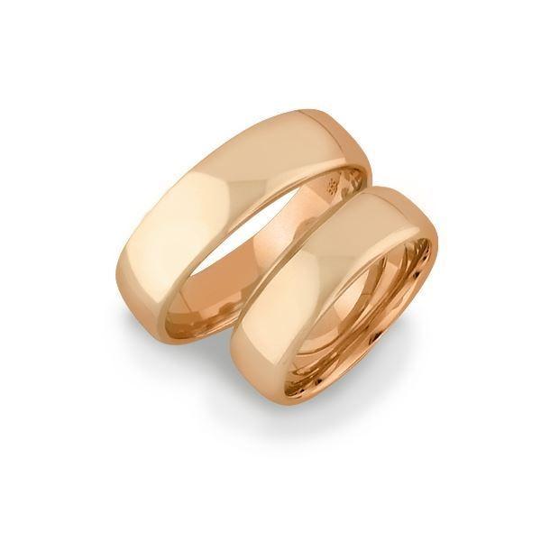 Gifteringer i gull 14kt, 5 mm. OREST – 14500