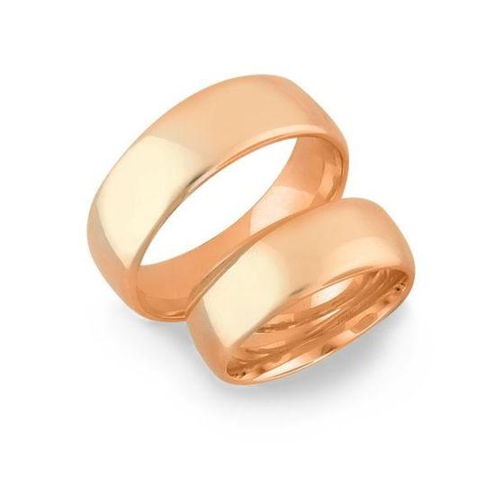 Gifteringer i rosé gull 14kt, 7 mm. OREST –14700