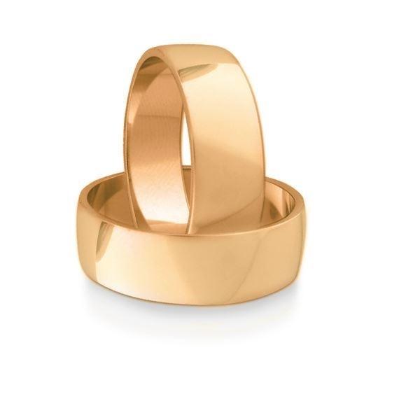 Gifteringer i rosé gull 14kt, 7 mm. OREST –1157000