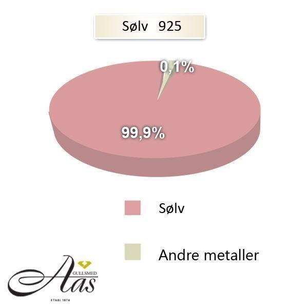 Metallandeler av Forlovelsesringer, SØLV MED DIAMANT - 4808087