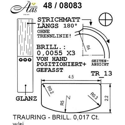 Skisse av Forlovelsesringer, SØLV MED DIAMANT - 4808083