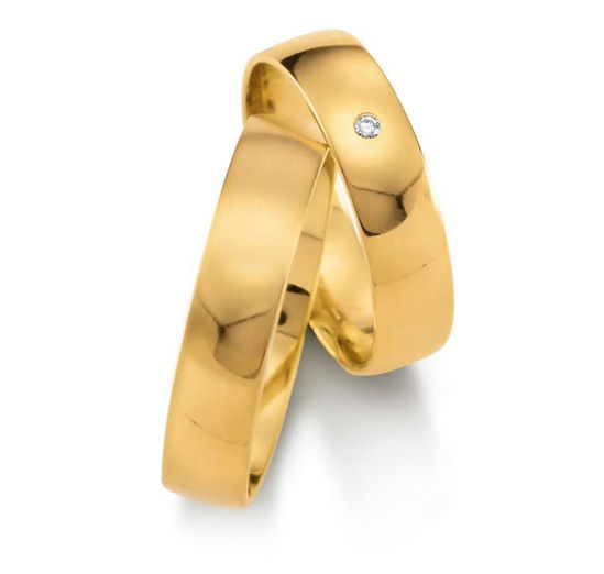 Gifteringer i gult gull 9kt, 5 mm.GETTMANN - 1110250