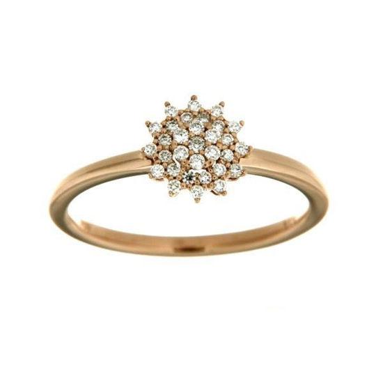 Diamantring gull med 0,18 ct W-Si-536455