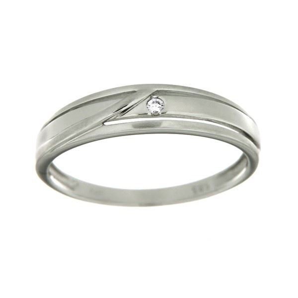 Diamantring i hvitt gull med 0,02 ct W-Si -546372