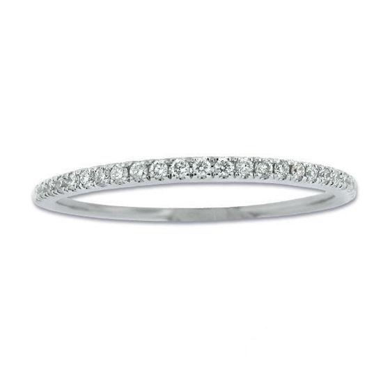 Diamantring i hvitt gull med 0.13 ct W-Si-1101106