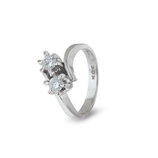Diamantring i hvitt gull med 0,30 ct TW-Si-8560030