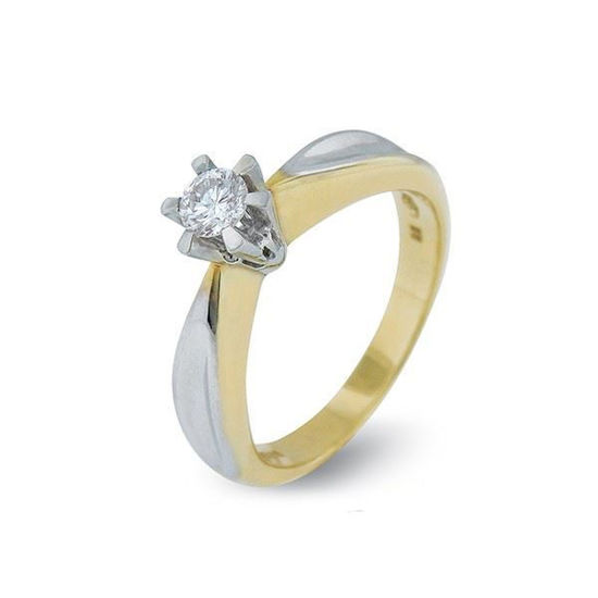 Diamantring gull med 0,20 ct TW-Si-10990020