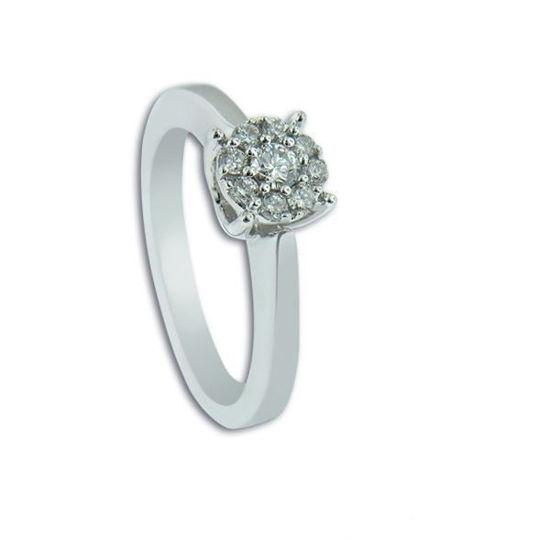Diamantring i hvitt gull med 0,17 ct W-Si -11100245
