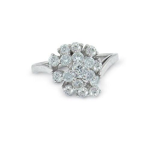 Diamant rosettring gull med 0,83 ct W-P -24000083
