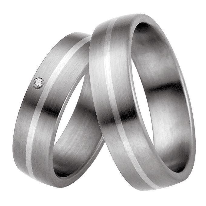 Forlovelsesringer titan & sølv, 6 mm. RAUSCHMAYER - 11505810