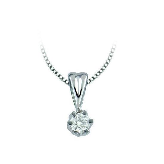 Diamantsmykke Sitara i gull med 0,05 ct W-Si-322105