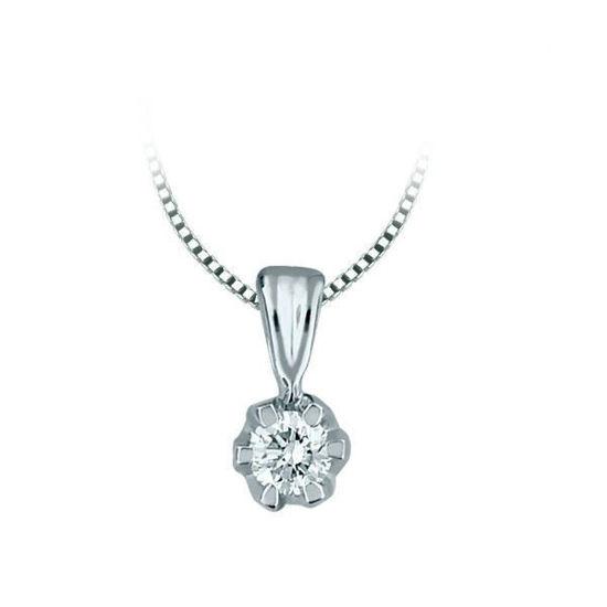 Diamantsmykke Sitara i gull med 0,08 ct W-Si-322008