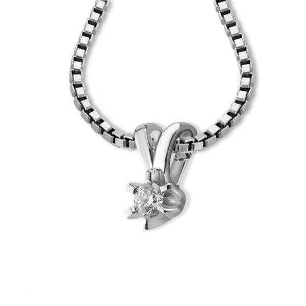 Diamantsmykke Sofia i gull med 0,05 ct W-Si-1120705