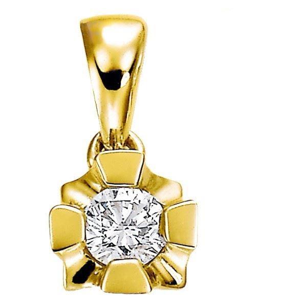 Diamantsmykke Evita i gull med 0,10 ct W-Si-503100