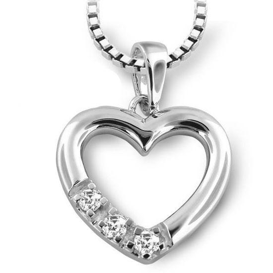 Diamantsmykke i gull med 0,09 ct TW-Si-2805151