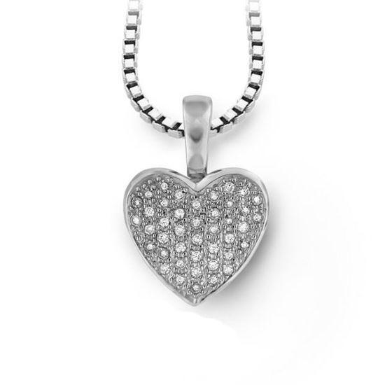 Diamantsmykke i gull med 0,25 ct W-Si - 2805152