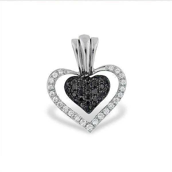 Diamanthjerte i gull med 0,10 ct & 0,19 ct W-Si-48901019