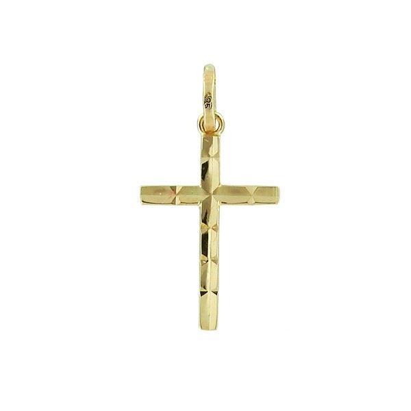 Kors i gult gull 14kt/585 - 86300