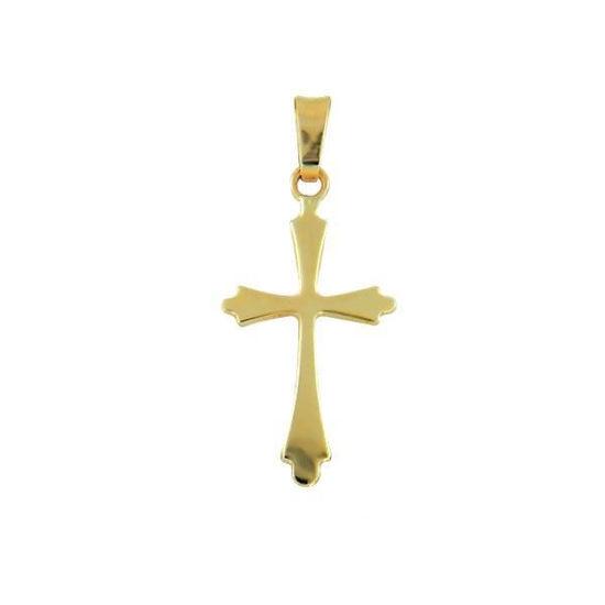 Kors i gult gull 14kt/585 - 85490