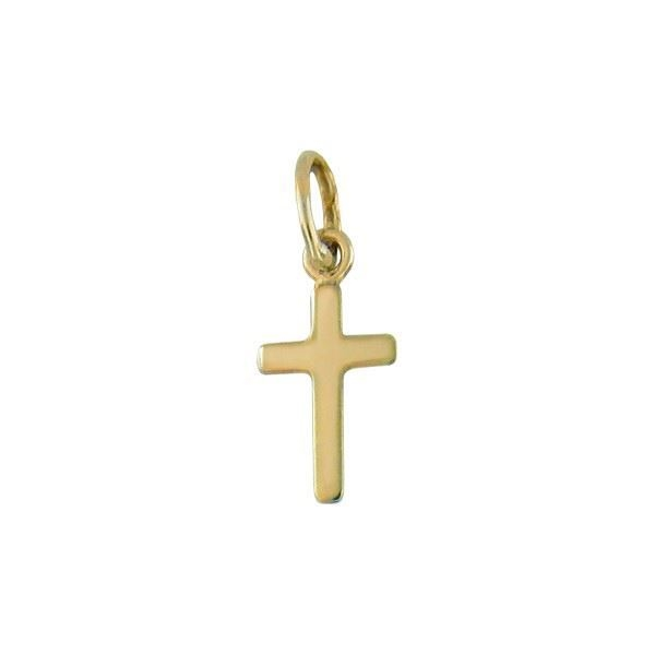 Kors i gult gull 14kt/585 - 29014