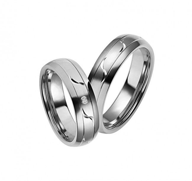 Gifteringer titan & sølv, 6 mm. RAUSCHMAYER -1151028