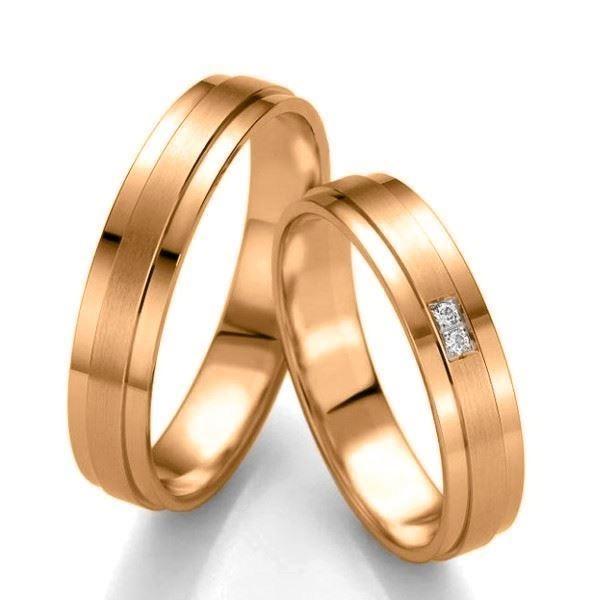 Gifteringer i gull 14 kt, 4.5 mm. Slim line - 48071439900