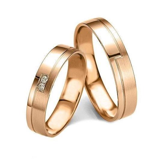 Gifteringer i gull 14 kt, 4.5 mm. Slim line - 4807139000