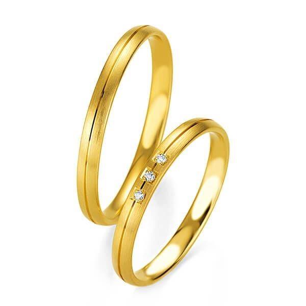 Gifteringer i gult gull 9 kt, 2.5 mm. BASIC SLIM - 14804323