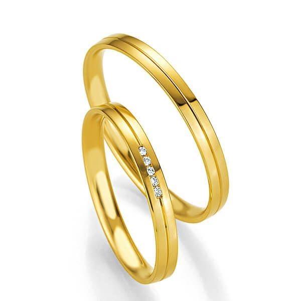 Gifteringer i gult gull 9 kt, 2.5 mm. BASIC SLIM - 14804327