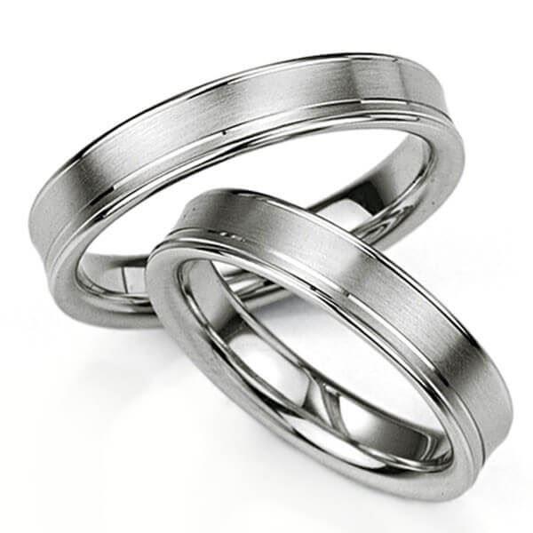Samboerringer i sølv, 4.5 mm. SØLV UTEN DIAMANT - 4808020