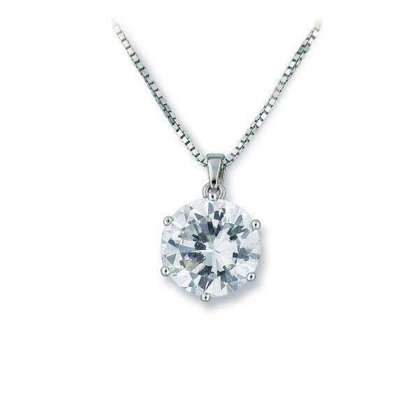 Smykke i sølv med zirkonia - 202158