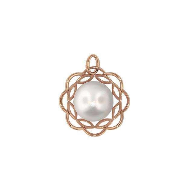 Smykke i rosé gull med ferskvannsperle - 210842