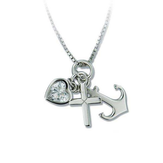 Smykke i sølv med zirkonia - 2701154