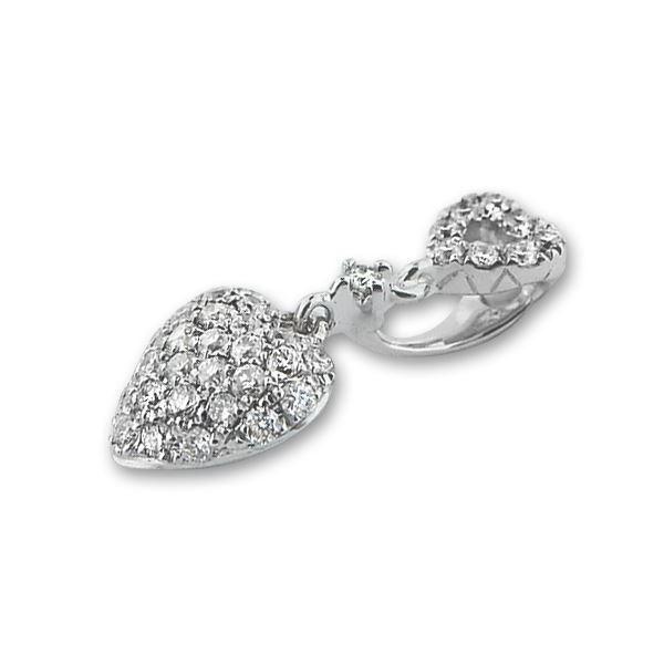 Diamantsmykke i gull med 0,12 ct W-Si-100615