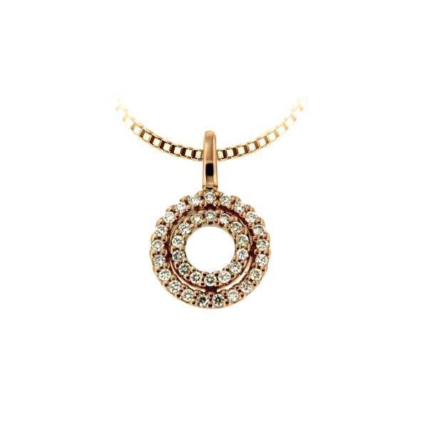 Diamantsmykke i gull med 0,15 ct W-Si-232833