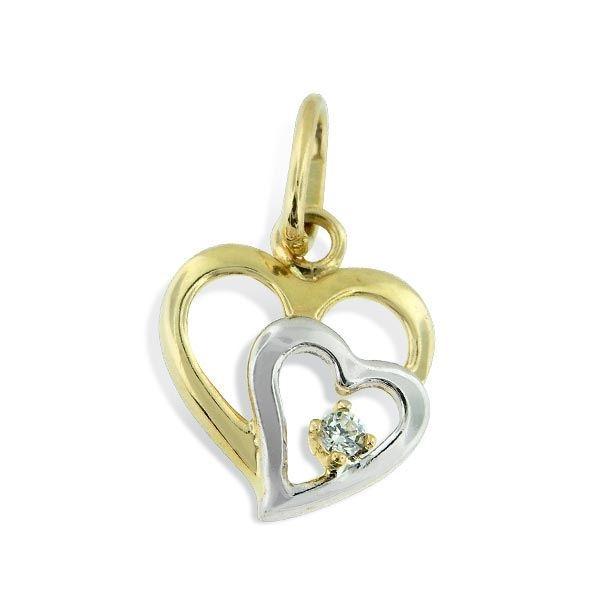 Gullsmykke med zirkonia - 30790