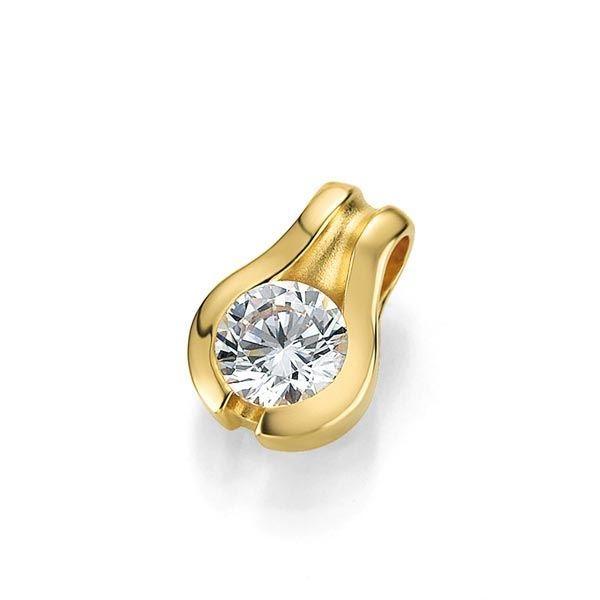 Diamantsmykke i gull med 0,25 ct W-Si -3103936