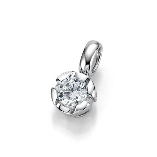 Diamantsmykke i gull med 0,25 ct W-Si -3103939