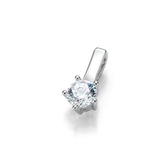Diamantsmykke i gull med 0,25 ct W-Si -3103925